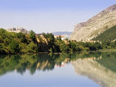 The town of Sisteron — Foto Stock