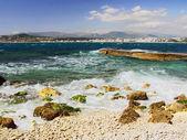 Hotel on coast Cap D'antibes Alpes maritimes. — Stock Photo