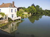 A village with old houses in France — Stock Photo