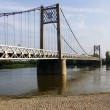 Stock Photo: Bridge over river loire