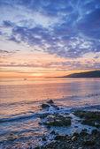 Sunrise over the sea, coverack, cornwall, uk — Stock Photo