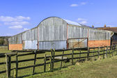 Farm buildings made of wood — Stock Photo