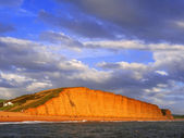 Beach seatown jurassic coast dorset england uk — Stock Photo