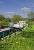 Boat on the Canal in United Kingdom — Foto de Stock