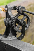 Gears and cogs metal machine — Stock Photo
