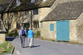 Town house high street broadway cotswolds worcestershire uk — Stock Photo