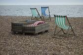 Chairs on beach — Stock Photo