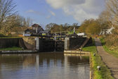 Canal on the inland waterways — Stock Photo