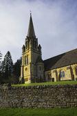 Batsford зал величественный дом, церковь и деревня — Стоковое фото