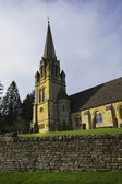 Batsford hall stately home, church and village — ストック写真