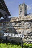 Church street sign, England — Stock Photo