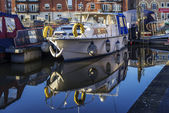 Diglis Basin Worcester City — Stock Photo