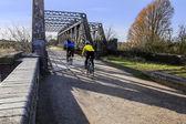 人骑自行车旅行 — 图库照片