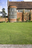 Lawn of a stately home — Stockfoto