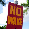 No wake sign — Stock Photo