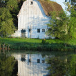 Country barn on a farm - Stock Photo