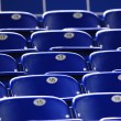 Blue chairs for stadium seating - Stock Photo