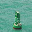 Buoy in ocean - Stock Photo