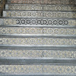 Decorative steel stairs - Stock Photo