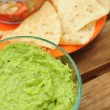 Chips and guacamole - Stock Photo