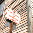 No panhandling or soliciting zone sign - Stock Photo