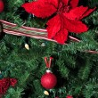 Red holiday ornaments - Stock Photo