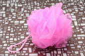 Hot pink loofah — Stock Photo