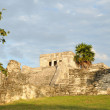 Stock fotografie: Ancient MayTemple in Tulum, Mexico named Castle