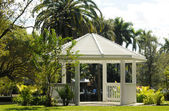Gazebo outdoors in summertime — Stock Photo