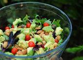 Mixed green salad — Stock Photo