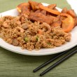 Stock Photo: Fried Rice and Prepared Tofu