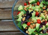 Mixed green salad — Stockfoto