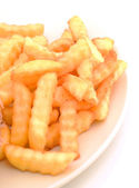 Crinkle cut french fries — Stock Photo