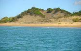Písečné duny krajina v panamě s oceánem a příroda — Stock fotografie