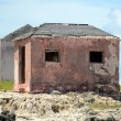 Stock Photo: Old abandoned houses near great isaac cay lighthouse in baha