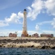 Stock Photo: Great Isaac Cay Lighthouse in Bahamas