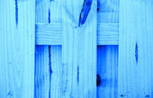 Blue natural wood background — Stockfoto