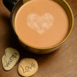 Stock Photo: Hot cocowith heart