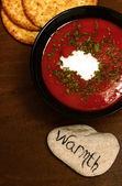 Tomato soup and warmth — Stock Photo