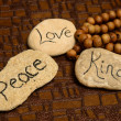 Peace, love and kindness — Stockfoto