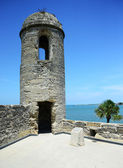 Sentry lookout tower at Castillo de San Marcos fort — Stock Photo