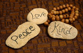 Peace, love and kindness — Stock Photo