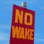 No wake sign — Stock Photo #29762099
