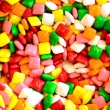 Square gum or candy background — Stock Photo