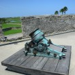 Old cannon in Castillo de San Marcos fort — Stock Photo