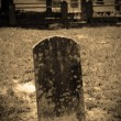 Grave in graveyard — Stock Photo