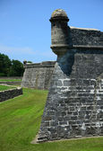 Castillo de San Marcos fort and lookout tower — Stock Photo