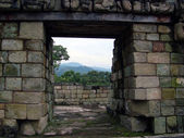 Landscape of mayan ruins in copan ruinas, honduras — Stock Photo