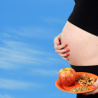 Vegan or vegetarian pregnancy — Stock Photo