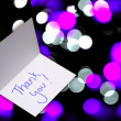 Stock Photo: Thank you card on abstract background